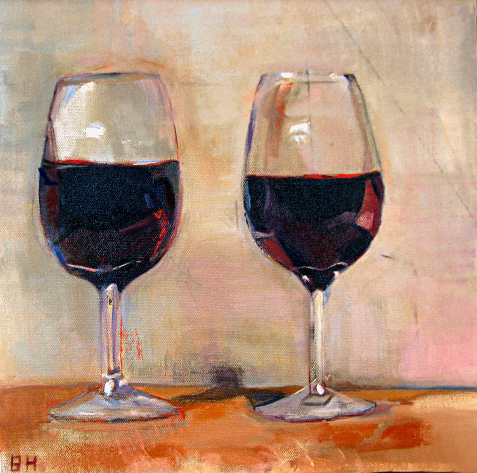 Two Glasses Oil Painting